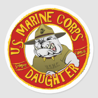 Adesivo Redondo U.S. Filha do Corpo do Marines