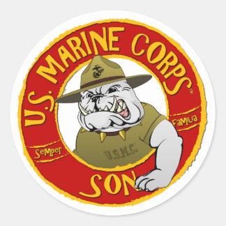 Adesivo Redondo U.S. Filho do Corpo do Marines