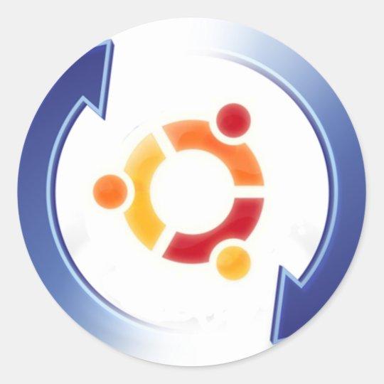 Adesivo Redondo ubuntu-update