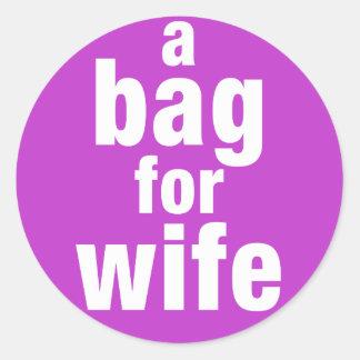 Adesivo Redondo Um saco para a esposa