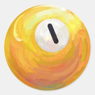 Adesivo Redondo Uma bola