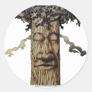 Adesivo Redondo Uma capa poderosa da árvore