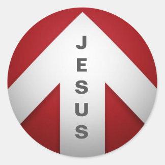 Adesivo Redondo Uma maneira - Jesus