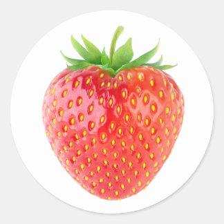 Adesivo Redondo Uma morango