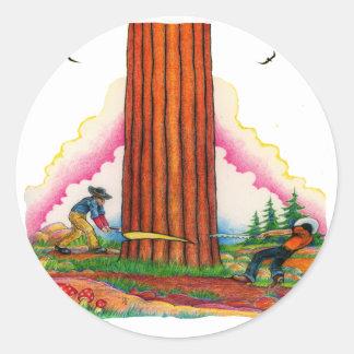 Adesivo Redondo Uma página poderosa 8 da árvore