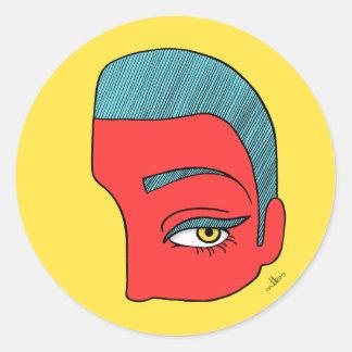 Adesivo Redondo Uma parte de cara