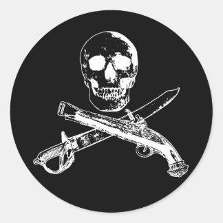 Adesivo Redondo Uma vida skullsticker_3 dos piratas