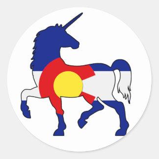 Adesivo Redondo Unicórnios e Colorado!