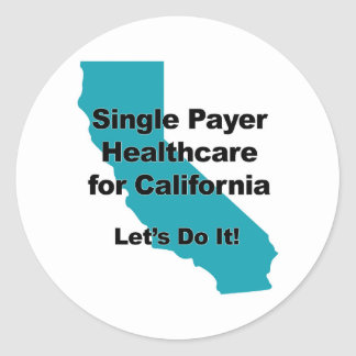 Adesivo Redondo Únicos cuidados médicos do pagador para Califórnia