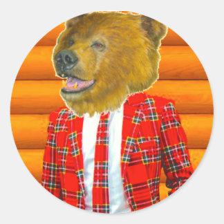 Adesivo Redondo Urso comigo