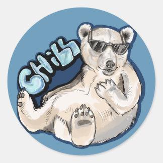 Adesivo Redondo Urso polar frio
