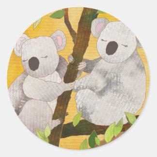 Adesivo Redondo Ursos de Koala