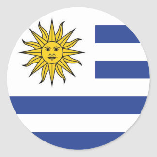 Adesivo Redondo Uruguai