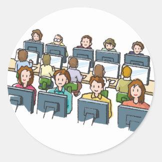 Adesivo Redondo Usuários do computador