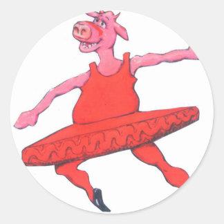 Adesivo Redondo Vaca da bailarina