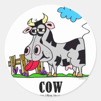 Adesivo Redondo Vaca pelo © de Lorenzo Lorenzo 2018 Traverso
