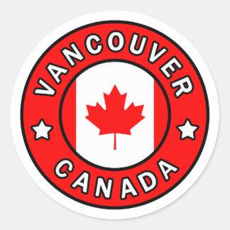 Adesivo Redondo Vancôver Canadá