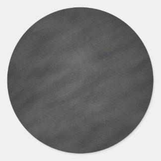 Adesivo Redondo Vazio preto cinzento do conselho de giz do fundo