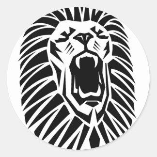 Adesivo Redondo vecto principal do leão