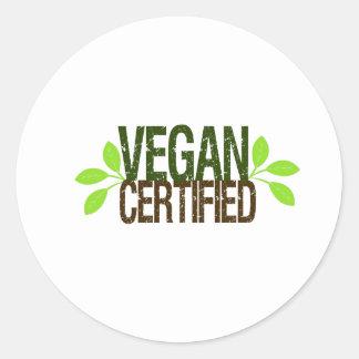 Adesivo Redondo Vegan certificado