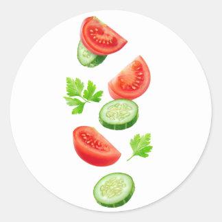 Adesivo Redondo Vegetais do vôo