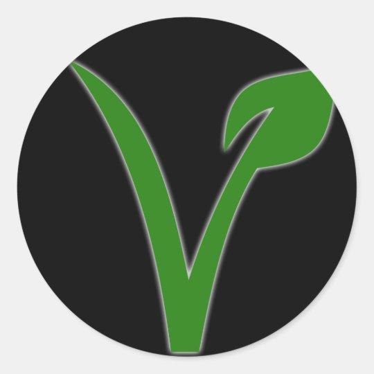 Adesivo Redondo Vegetarianismo