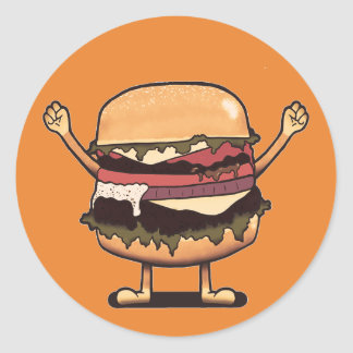 Adesivo Redondo Vencedor do hamburguer!