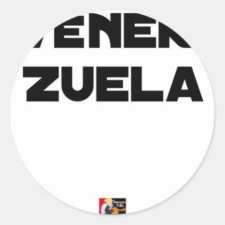 Adesivo Redondo VÉNER-ZUELA - Jogos de palavras - François Cidade