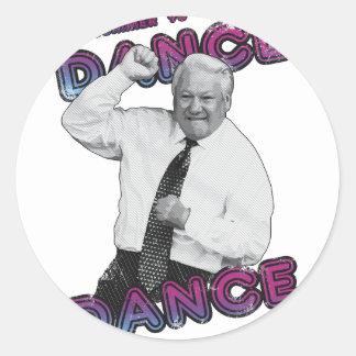Adesivo Redondo Verão quente 1996 da dança da dança de Boris