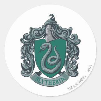 Adesivo Redondo Verde da crista de Harry Potter | Slytherin