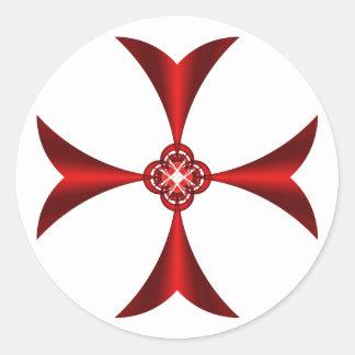 Adesivo Redondo Vermelho transversal