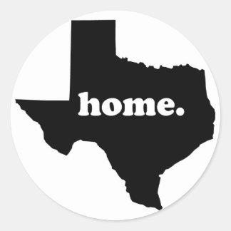 Adesivo Redondo Versão Home 1 de Texas