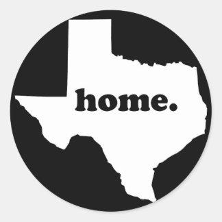 Adesivo Redondo Versão Home 2 de Texas preta & branco