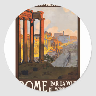 Adesivo Redondo Viagens vintage Roma Italia 1920