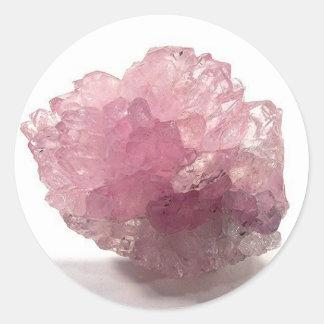 Adesivo Redondo Viajantes da felicidade de quartzo cor-de-rosa