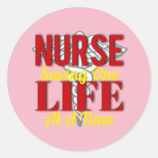 Adesivo Redondo Vida da enfermeira