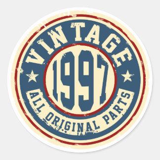 Adesivo Redondo Vintage 1997 todas as peças do original
