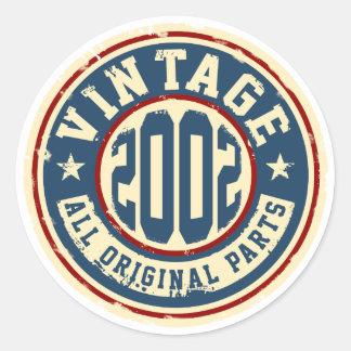 Adesivo Redondo Vintage 2002 todas as peças do original