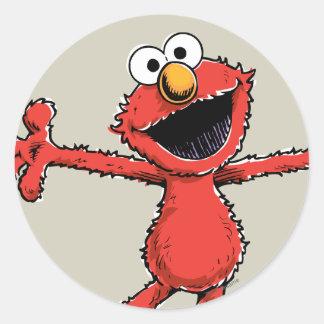 Adesivo Redondo Vintage Elmo