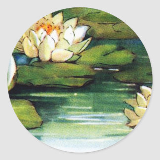Adesivo Redondo Vintage Lotus