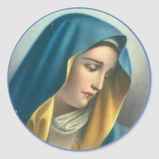 Adesivo Redondo Virgem Maria abençoada dolorosa