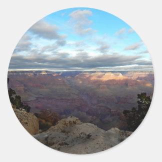 Adesivo Redondo Vista panorâmica do Grand Canyon