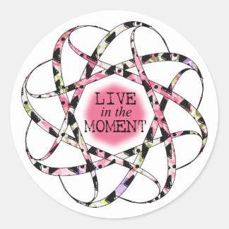 Adesivo Redondo Viva na fita circular floaty colorida do momento
