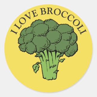 Adesivo Redondo Você ama brócolos?