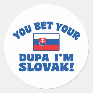 Adesivo Redondo Você aposta seu Dupa que eu sou eslovaco