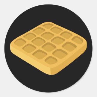Adesivo Redondo Waffles da comida do pulso aleatório