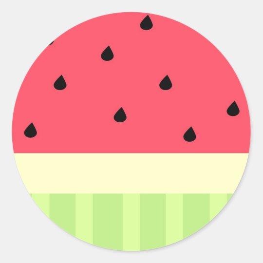 Adesivo Redondo Watermelon