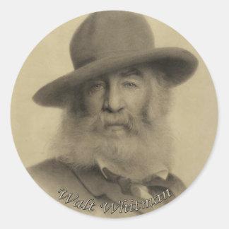 Adesivo Redondo Whitman o bom poeta cinzento