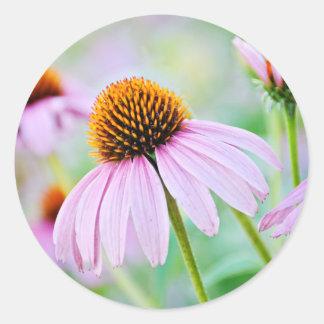 Adesivo Redondo Wildflowers roxos