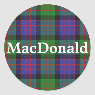 Adesivo Redondo Xadrez de Tartan escocesa de MacDonald do clã